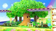 Whispy Woods soplando en Prados Verdes SSBU.jpg