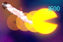 Vista previa de Super Pac-Man en la sección de Técnicas de Super Smash Bros. Ultimate