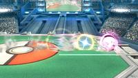 Jigglypuff usando Desenrollar en Super Smash Bros. para Wii U