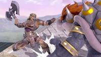 Simon usando Hacha en Super Smash Bros. Ultimate