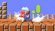 Ataque de recuperación de cara al suelo de Mario (2) SSBU.jpg