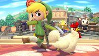 Toon Link junto a un Cuco.