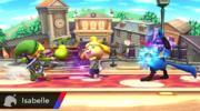Canela lanzando una fruta a Toon Link SSB4 (Wii U).png
