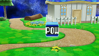 Un Bloque POW en Super Smash Bros. para Wii U.