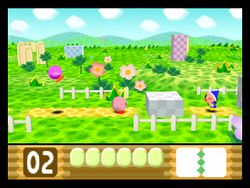 Pop Star, el primer nivel de Kirby 64.