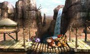 Fox, Bowser y Donkey Kong en el Valle Gerudo SSB4 (3DS).jpg
