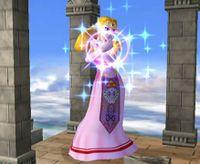 Zelda usando Transformación en Super Smash Bros. Melee