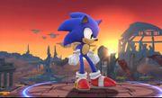 Sonic en el Campo de Batalla SSB4.JPG