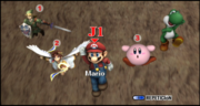 Link Pit Mario Kirby y Yoshi seleccion El cañon ESE SSBB.png