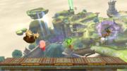 Kirby, Yoshi, Donkey Kong y Samus en Altárea (versión Destino Final) SSB4 (Wii U).png