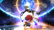 Ness atacando a Sheik en Destino Final SSB4 (Wii U).jpg