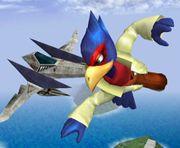 Falco y un Arwing SSBM.jpg