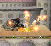 Ataque fuerte hacia arriba de Ganondorf (2) SSBM.png