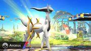 Arceus siendo invocado en el Campo de Batalla SSB4 (Wii U).jpg