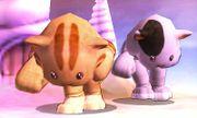 Dos Karatekas Mii con el gorro y el traje de gato en Magicant SSB4 (3DS).jpg