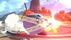 Kirby cargando el ataque.