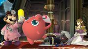Dr. Mario, Jigglypuff, Toon Link y Zelda en Mansion de Luigi SSB4 (Wii U).jpg
