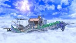 Vista general del escenario en Super Smash Bros. Ultimate