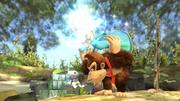 Estela dando ordenes al Destello aún estando agarrada SSB4 (Wii U).png