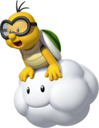 Art oficial de Lakitu en New Super Mario Bros U.