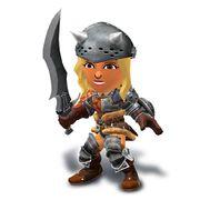 Artwork de la Espadachína Mii con el casco y malla de cazador.jpg