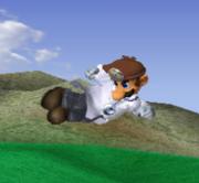 Ataque aéreo hacia atrás de Dr. Mario SSBM.png