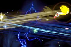 Vista previa de Super Sonic en la sección de Técnicas de Super Smash Bros. Ultimate