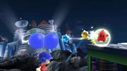 Destello rojo atacando al Aldeano SSB4 (Wii U).png