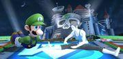 Luigi y la Entrenadora de Wii Fit en Wily Castillo SSB4 (Wii U).jpg