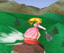 Ataque con la raqueta de tenis.