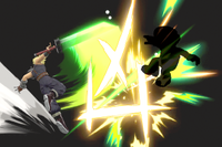 Vista previa de Corte cruzado en la sección de Técnicas de Super Smash Bros. Ultimate