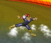Ataque Smash hacia abajo de Captain Falcon (2) SSBM.png