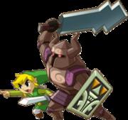 Zelda controlando un espectro junto a Link en The Legend of Zelda Spirit Tracks.png