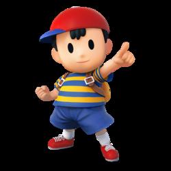 Art oficial de Ness en Super Smash Bros. para Nintendo 3DS y Wii U