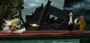 Lucas haciendo Fuego PSI y Duck Hunt con un Wild Gunman en Mansion de Luigi SSB4 (Wii U).png