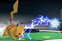 Pikachu usando Rayo en Super Smash Bros. Melee