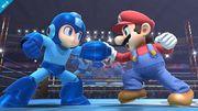 Mega Man junto a Mario SSB4 (Wii U).jpg