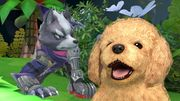 Wolf y Nintendog en Super Smash Bros. Ultimate.jpg
