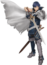 Art oficial de Chrom en Fire Emblem Warriors