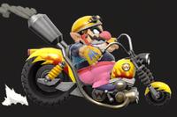 Vista previa de Moto Wario/Wario Bike en la sección de Técnicas de Super Smash Bros. Ultimate