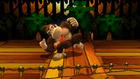 Donkey Kong iniciando el Cabezazo en Super Smash Bros. para Wii U