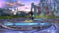 Tirador Mii utilizando el Lanzagranadas en Super Smash Bros. for Wii U.