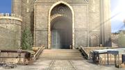Vista alejada del mercado del monasterio de Garreg Mach SSBU.png