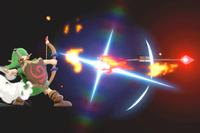 Vista previa de la Flecha de fuego en la sección de Técnicas de Super Smash Bros. Ultimate.