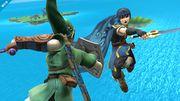 Marth y Link en la Isla de Pilotwings - (SSB. for Wii U).jpg
