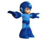 Mega Man en su Pose T modelo de Nintendo 3DS.png