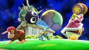 Rey DeDeDe lanzando un Gordo en la Galaxia Mario SSB4 (Wii U).jpg