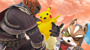 Créditos Modo Leyendas de la lucha Pikachu SSB4 (Wii U).png