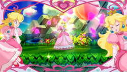 Peach usando Flor de melocotón en Super Smash Bros. for Wii U