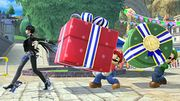 Bayonetta, Mario y Luigi en las Islas Wuhu SSB4 (Wii U).jpg